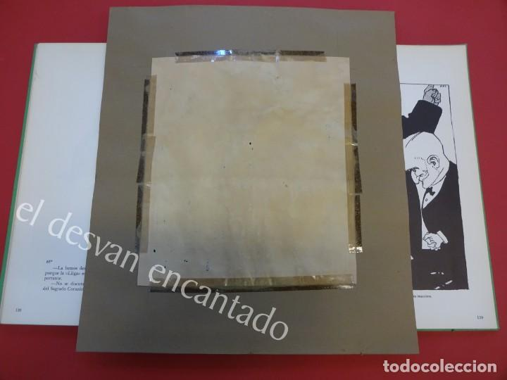 Arte: Feliu ELIAS i BRACONS (APA) 1878-1948. Dibujo original portada PAPITU nº 74. 21x18 ctms - Foto 6 - 165460070