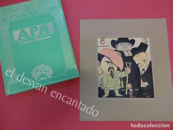 Arte: Feliu ELIAS i BRACONS (APA) 1878-1948. Dibujo original portada PAPITU nº 74. 21x18 ctms - Foto 7 - 165460070