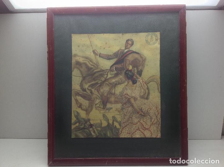 LITOGRAFIA ANTIGUA - CARLOS SAEZ DE TEJADA - PEDRO DOMECQ JEREZ DE LA FRONTERA - PUBLICIDAD FUNDADOR (Arte - Dibujos - Contemporáneos siglo XX)