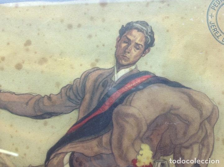 Arte: LITOGRAFIA ANTIGUA - CARLOS SAEZ DE TEJADA - PEDRO DOMECQ JEREZ DE LA FRONTERA - PUBLICIDAD FUNDADOR - Foto 3 - 165471142
