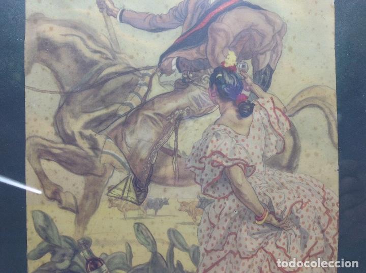 Arte: LITOGRAFIA ANTIGUA - CARLOS SAEZ DE TEJADA - PEDRO DOMECQ JEREZ DE LA FRONTERA - PUBLICIDAD FUNDADOR - Foto 5 - 165471142