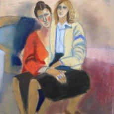 Arte: JORDI CURÓS (OLOT, 1930-2017), PASTEL/PAPEL 56 X 46 CM. FIRMADO. AÑOS 60-70.. Lote 165558878