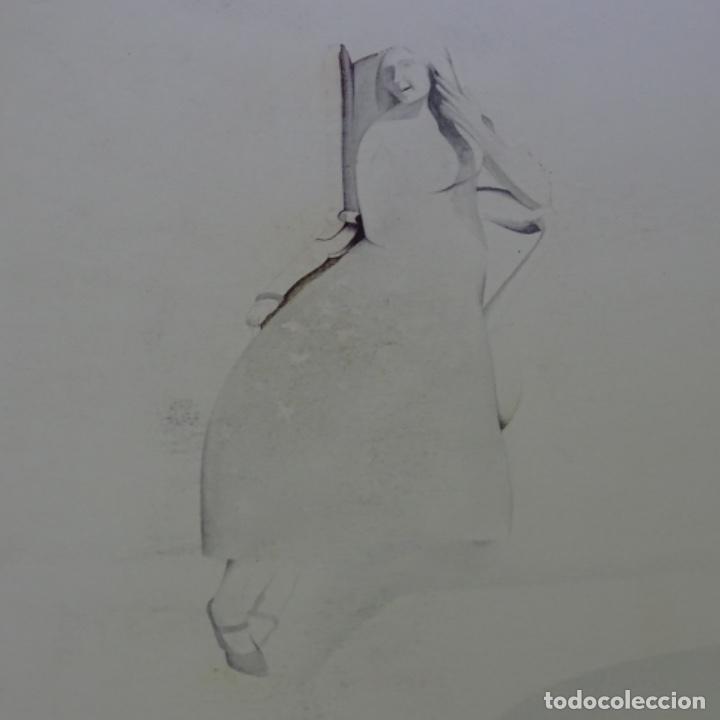 Arte: Dibujo lápiz firma ilegible. - Foto 2 - 165686998