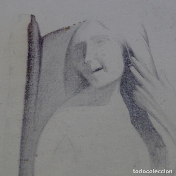Arte: Dibujo lápiz firma ilegible. - Foto 5 - 165686998
