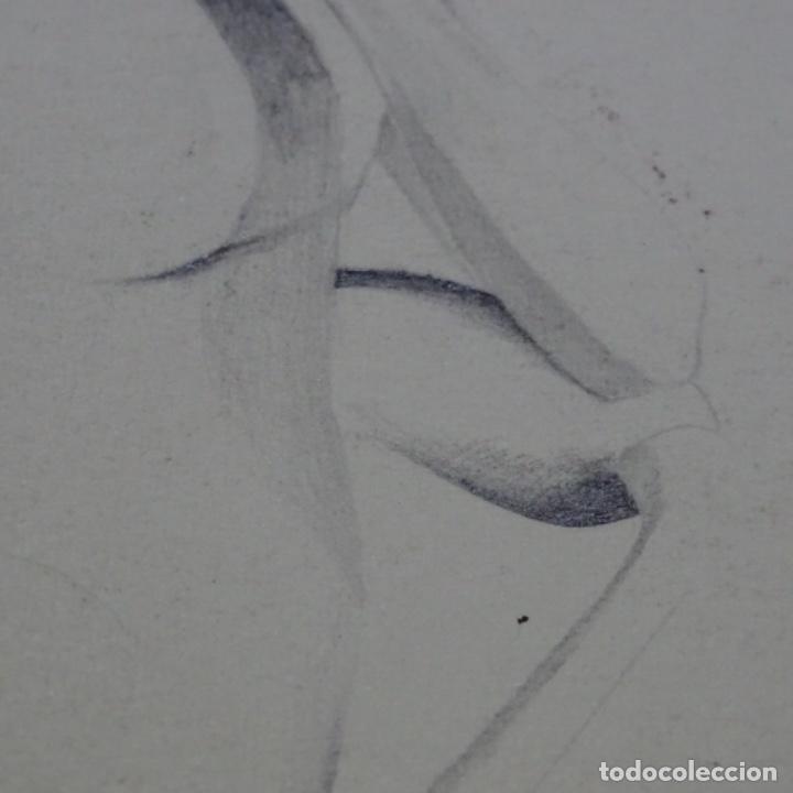 Arte: Dibujo lápiz firma ilegible. - Foto 6 - 165686998