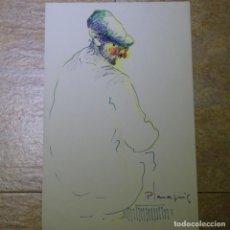Arte: DIBUJO DE MIQUEL PLANA PUIG.ROTULADOR.ABUELO.. Lote 165688014