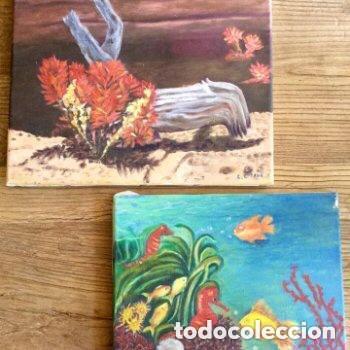 Arte: Lote de dos obras con temas marinos de Concepción Cuende - Foto 2 - 165797426