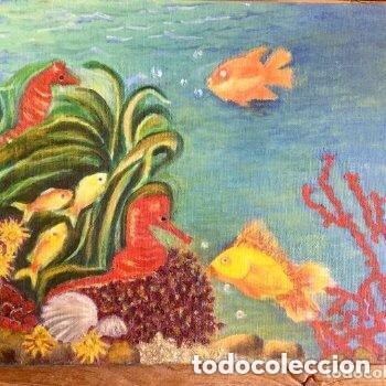 Arte: Lote de dos obras con temas marinos de Concepción Cuende - Foto 3 - 165797426