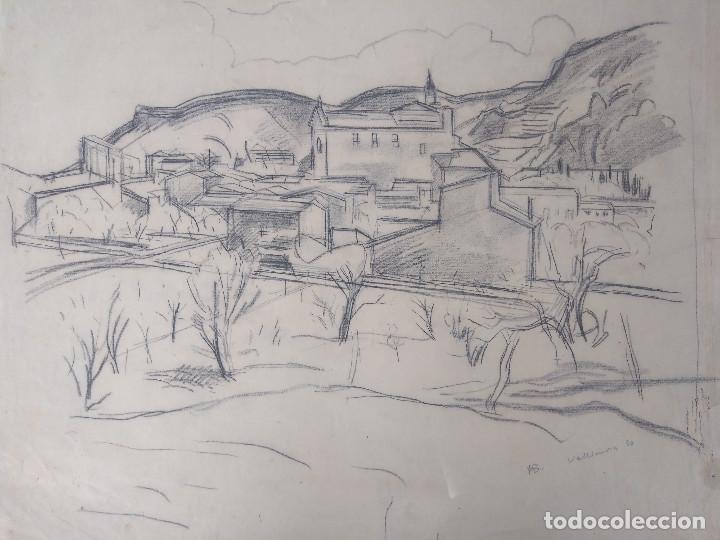 HERMANN BRUCK. VALLDEMOSA, MALLORCA (Arte - Dibujos - Contemporáneos siglo XX)