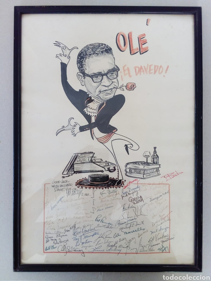 INTERESANTE CARICATURA ORIGINAL DE PHIL BISSELL 1968. (Arte - Dibujos - Contemporáneos siglo XX)