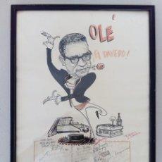 Arte: INTERESANTE CARICATURA ORIGINAL DE PHIL BISSELL 1968.. Lote 165870828