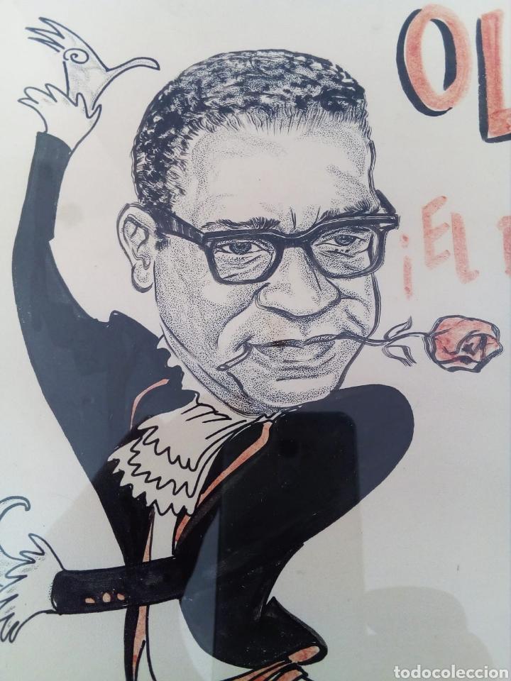 Arte: INTERESANTE CARICATURA ORIGINAL DE PHIL BISSELL 1968. - Foto 2 - 165870828