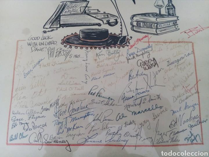 Arte: INTERESANTE CARICATURA ORIGINAL DE PHIL BISSELL 1968. - Foto 3 - 165870828