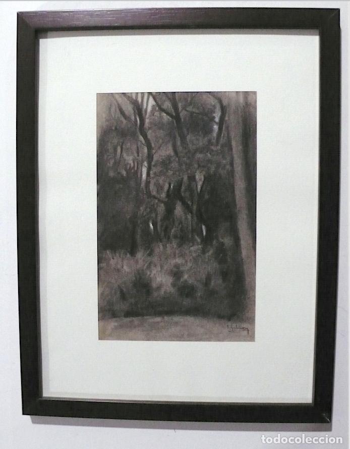 GALWEY, DIBUJO ORIGINAL CARBONCILLO Y TIZAS BLANCAS, FIRMADO (Arte - Dibujos - Contemporáneos siglo XX)