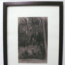 Arte: GALWEY, DIBUJO ORIGINAL CARBONCILLO Y TIZAS BLANCAS, FIRMADO. Lote 165980674