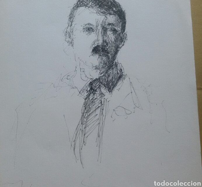 DIBUJO RETRATO ADOLF HITLER ORIGINAL (Arte - Dibujos - Contemporáneos siglo XX)