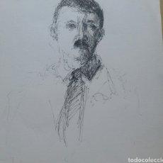 Arte: DIBUJO RETRATO ADOLF HITLER ORIGINAL. Lote 166015936