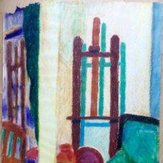Arte: DIBUJO CON ESTUDIO DEL ARTISTA DEL SEGUNDO TERCIO SIGLO XX. Lote 166161906
