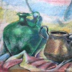 Arte: DIBUJO CON BODEGÓN FIRMADO GAUDÍ Y FECHADO EN 1979. Lote 166163222