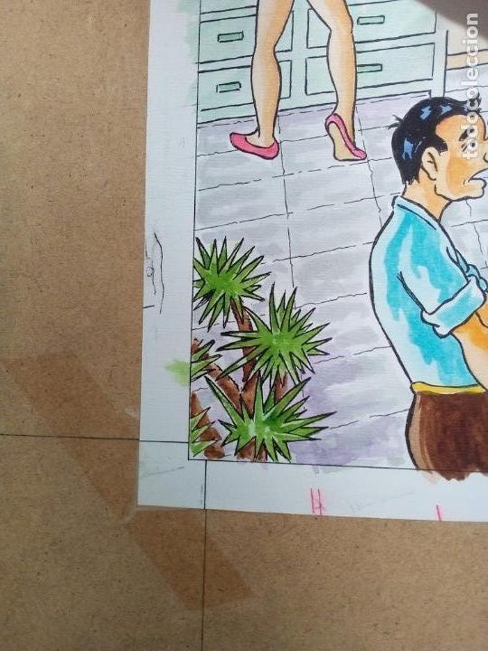 Arte: dibujo coloreado firmado Tubau Cornet, medidas 31X39 cm. - Foto 4 - 26247196
