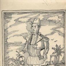 Arte: 'LABRADOR VALENCIANO' PLUMILLA ORIGINAL DE MATEU. 1954. Lote 166249898