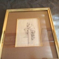Arte: BONITO DIBUJO ENMARCADO. Lote 166437470