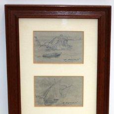 Arte: DIONÍS BAIXERAS VERDAGUER (BARCELONA, 1862 - 1943) CONJUNTO DE 3 DIBUJOS A LAPIZ FIRMADOS. Lote 166571230