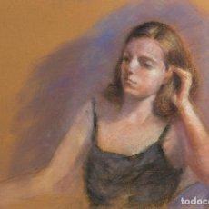 Arte: PASTEL SOBRE PAPEL RETRATO MUJER SIGLO XX. Lote 166616714