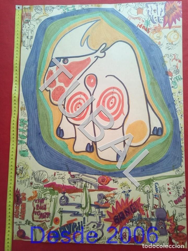 TUBAL DIBUJO SURREALISTA DE RAFAEL DE COZAR 1973 FONDO LIBRERIA FULMEN SEVILLA GRUPIC (Arte - Dibujos - Contemporáneos siglo XX)