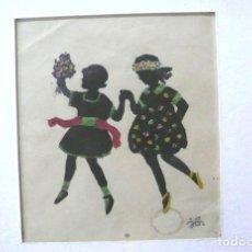 Arte: DIBUJO ORIGINAL TINTA FIRMADO CON INICIALES. Lote 166898404