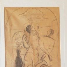 Arte: EMILIO VARELA - DANZANTES, ALICANTINA DE CALPE Y PEÑÓN DE IFACH - BOCETO PARA HOGUERA. Lote 167087520