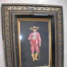 Arte: ANTIGUO DIBUJO DE ACUARELA, FIRMADO GALIANA.. Lote 167161000