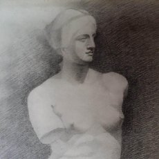 Arte: HENRI ADAM, VENUS DE MILO / DIBUJO AL CARBÓN, 1897. Lote 102718159