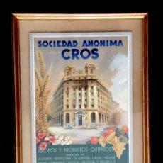 Arte: SOCIEDAD ANÓNIMA CROS. PINTURA ORIGINAL C. 1950. Lote 167430700