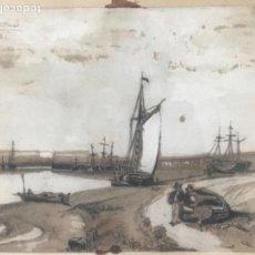 Arte: INTERESANTE DIBUJO ACUARELADO FIRMADO SANNY 1891. VER FOTOS ANEXAS. . Lote 167639784