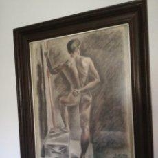 Arte: BONITO DIBUJO REPRESENTA DESNUDO MASCULINO. Lote 167667197