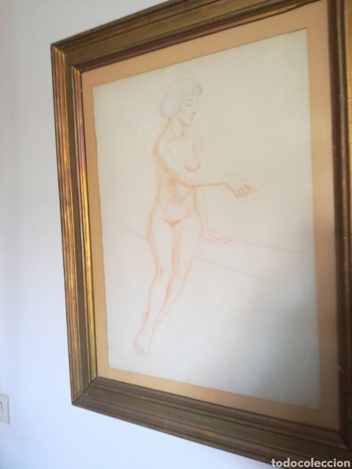 DIBUJOS ENMARCADOS DESNUDO FEMENINO (Arte - Dibujos - Contemporáneos siglo XX)