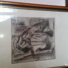 Arte: CUADRO CARBONCILLO EN PAPEL,. Lote 167873308