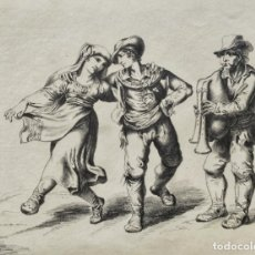 Arte: EXCELENTE DIBUJO ORIGINAL DE FINALES DEL SIGLO XVIII, GRAN DETALLE Y CALIDAD, FIRMADO NRJ. Lote 168077072