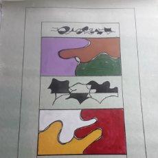 Arte: LOTE 3 DIBUJOS ORIGINALES 40X30 CMS / J.S. BERLINQHIERI. Lote 168131916