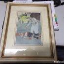 Arte: DIBUJO COLOREADO ORIGINAL DE JUNCEDA SATIRICO CATALAN ATROPELLADO POR MATRICULA ESPAÑOLA. Lote 168144848