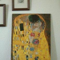 Arte: KLIMT - EL BESO - TABLA VINILO. Lote 168276280