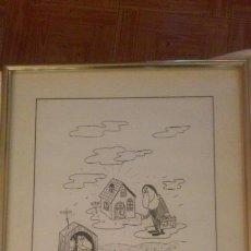 Arte: DIBUJO DE GILA PARA API BARCELONA. FINALES AÑOS 80 PRINCIPIO DE LOS 90. Lote 168380872
