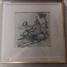 Arte: ESCENA CÓMICA DE CAZA. Lote 168548558