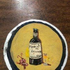 Arte: ANTIGUO DIBUJO SOBRE CARTON PUBLICIDAD FINO COLLANTE CHICLANA - MEDIDA 10,5 CM. Lote 168724196