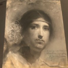 Arte: ENRIQUE JARABA JIMÉNEZ. PINTURA MALAGUEÑA SIGLO XIX. 1903. PASTEL.. Lote 168898308