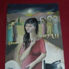 Arte: (M) DIBUJO ORIGINAL FIRMADO MARA 1960 - 38X25,5 CM, SEÑALES DE USO. Lote 169277920