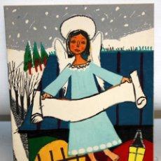 Arte: RAMON AGUILAR MORE (BARCELONA, 1924 - 2015) TECNICA MIXTA SOBRE CARTULINA DEL AÑO 1956. Lote 169393884