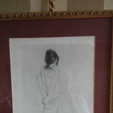 Arte: DIBUJO ORIGINAL A LAPIZ DE F.REVELLO DE TORO, DEDICADO, FIRMADO Y FECHADO EN 1981. Lote 169458484