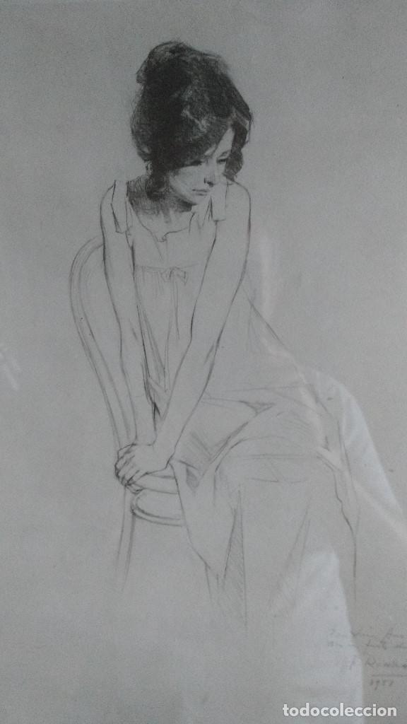 Arte: DIBUJO ORIGINAL A LAPIZ DE F.REVELLO DE TORO, DEDICADO, FIRMADO Y FECHADO EN 1981 - Foto 2 - 169458484